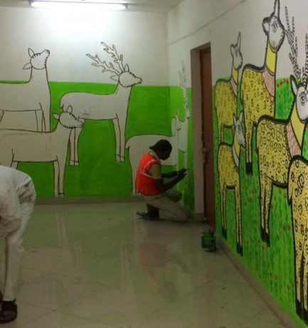 Jail inmates turn Artists at the Mandoli Jail in East Delhi